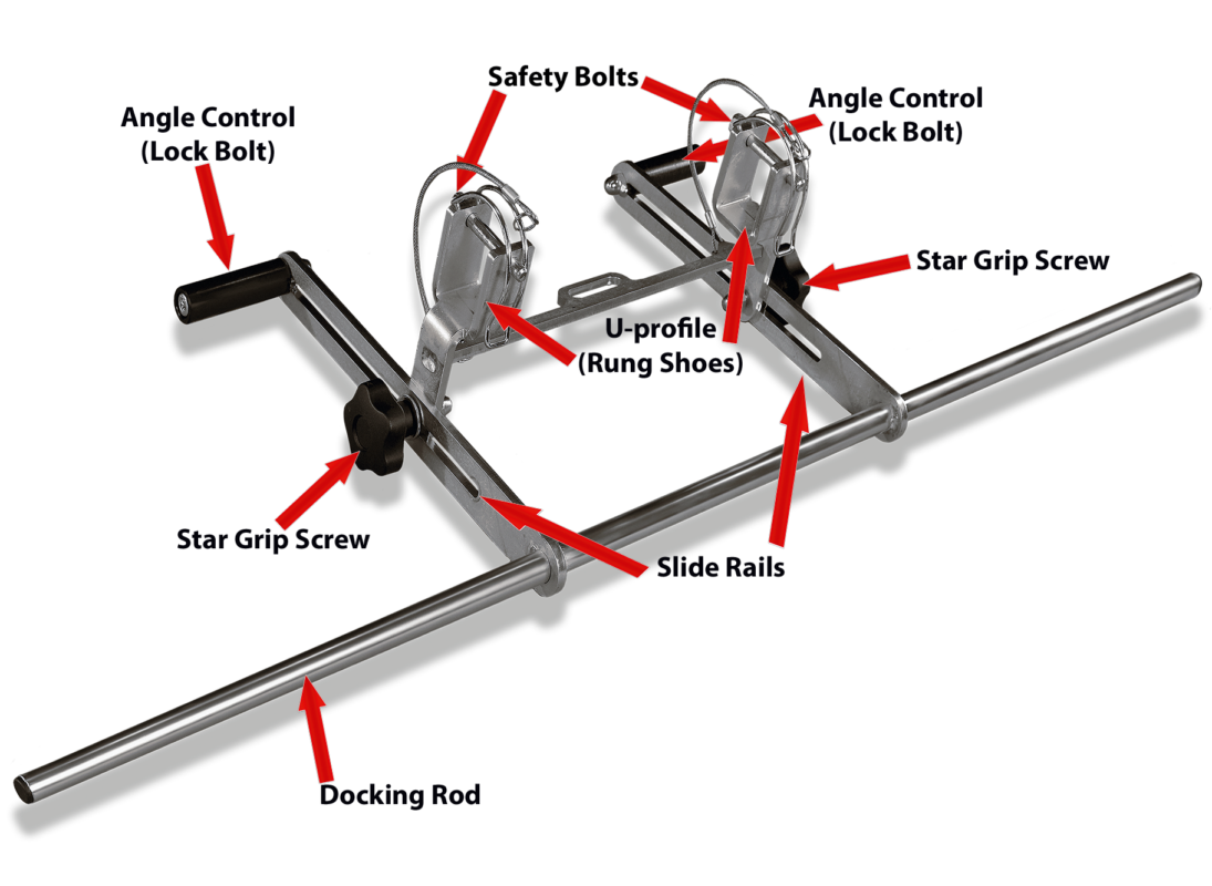 LeiKoSi Ladder-Head-Safety-System with part designation